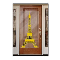 Beistle 54727 Eiffel Tower Door Cover, x Gold/Black This item is a great value! Includes 1 door cover in package Measures 30 inches wide by 5 feet tall Made of plastic Use to decorate for French or international themed party A Day In Paris, I Love Paris, Paris Party Decorations, Hanging Decorations, Paris Eiffel Tower, Eiffel Towers, Paris Theme, Party Props, Ideas Party