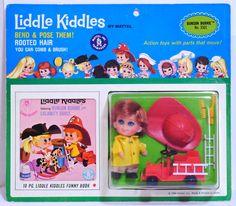 NRFC Bunson Burnie  - Liddle Kiddle Mattel - 1966 MOC Vintage  #Mattel