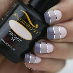 19 Gorgeous Ombre Nails - Solid blocks of gradient colors brings sophistication to this nail art design.