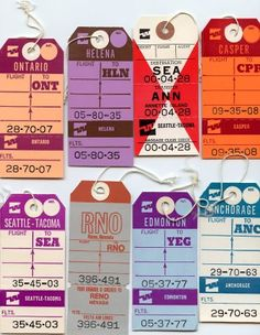 baggage tags #wherever #documents #travel