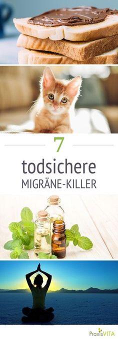 Schnurrendes Kätzchen, Nutellabrot und heiße Dusche – diese Dinge haben eins gemeinsam: Sie helfen bei Migräneattacken.