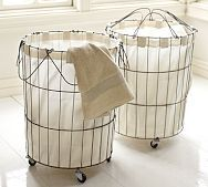 Shop french wire laundry hamper from Pottery Barn. Our furniture, home decor and accessories collections feature french wire laundry hamper in quality materials and classic styles. Laundry Hamper, Laundry Rooms, Wire Laundry Basket, Laundry Shop, Wire Baskets, French Vintage, Pottery Barn, Room Inspiration, Diy Furniture