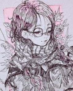Meeda MohsinさんはInstagramを利用しています:「14? done with a cute ballpoint pen sent to me by @kibou with other many precious gifts ;; I love you kibby you know that #inktober…」 Inspiration Art, Art Inspo, Manga Art, Anime Art, Art Sketches, Art Drawings, Character Art, Character Design, Copic Art