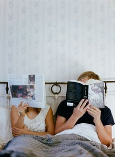 Reading in bed :-)