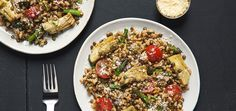 Warm Farro and Lentil Salad , Chef'd | Chef'd