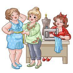 Bubbly Girls, Big Girls, Mollige Meiden Abraham And Sarah, Plus Size Art, Art Impressions Stamps, Decoupage Vintage, Patch Quilt, Digi Stamps, Cute Illustration, Retro, Artist Art