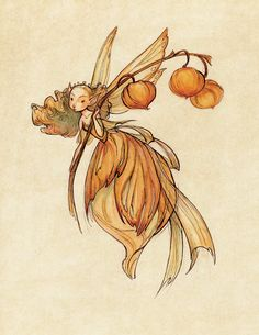 Midsummer Fairies: Lantern SMALL 8.5x11 Art Print. $20,00, via Etsy.