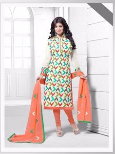 Charming Multicolored Cotton Straight Suit #salwarkameez #straightsuits #fashion #womenapparels #zoprix Size+:+Free+Size Type+:+Semi+Stitched Customize+option+:+Small+to+XXL
