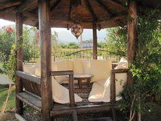 Dalyan villa rental - Relax in the traditional Turkish kosk Outdoor Seating, Outdoor Dining, Outdoor Spaces, Garden Spaces, Garden Beds, Greek Garden, Pergola Kits, Pergola Ideas, Pergola Decorations