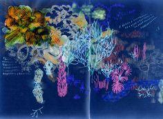 Toutes les idées sont tissées sur le canevas de la nuit    | Véronique Groseil |Carnet 203 > hiver 2013 http://groseil.canalblog.com/archives/carnet_203___hiver_2013/index.html
