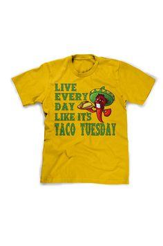 funny taco shirt live every day like its taco tuesday humorous mexican t shirt cinco de mayo tee shirt xl l m shirt for men guys kids youth