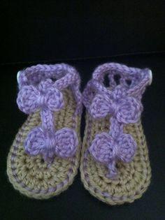 Crochet Baby Sandals infant Summer Sandals by Doodlebugphotoprops, $15.00