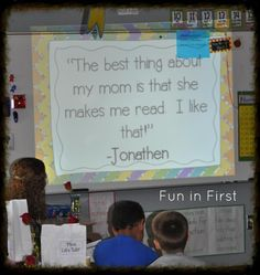 Great classroom Mother's Day ideas.