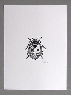 Ladybird Linocut Print by Inkshed Press                                                                                                                                                                                 Mehr