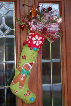 Gingerbread Door Wreath