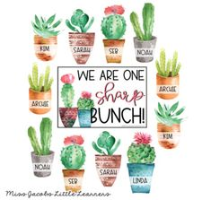 Watercolour cactus and Succulent Classroom Decor. This calming and modern classroom theme includes editable learning focus posters - learning intentions and success criteria. Esl Classroom, Sunday School Classroom, Modern Classroom, Classroom Calendar, Toddler Classroom, Classroom Design, Classroom Setup, History Classroom, Classroom Supplies