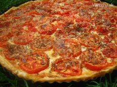 Rajčinový koláč z Provensálska (fotorecept) Tomato Cake, Pepperoni, Quiche, Pizza, Menu, Food, Hampers, Menu Board Design, Essen
