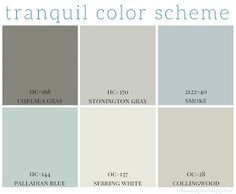 Full home color scheme – calming colors are so popular right now in home decor. Benjamin Moore has some great paint colors that are calming and neutral. Interior Paint Colors For Living Room, Home Decor Colors, Paint Colors For Home, Wall Colors, Colorful Decor, Paint Colours, Interior Painting, Calm Colors For Bedroom, Hallway Colors