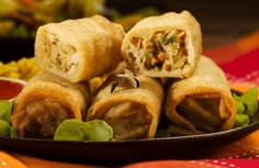 Crispy Baked Egg Rolls Recipe via @SparkPeople
