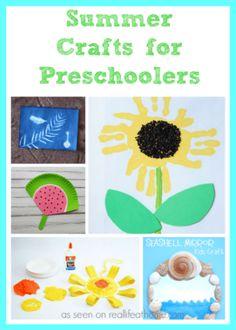 summer crafts for preschoolers #Preschool #PreschoolCrafts #CraftsForKids #SummerCrafts