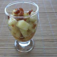 Salata de Pepene Cu Dulceata De Topinambur / Melon Salad With Topinambour Jam https://vegansavor.wordpress.com/2015/07/08/melon-salad-with-topinambour-jam/ #Topoloveni #jam #vegan #topinambour #melon #sweets