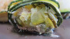 Involtini di zucchine al forno con capperi, acciughe e tonno