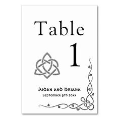 Shop Modern Celtic symbols and foliage Table Number created by WandiWedding. Table Names, Triquetra, Irish Celtic, Celtic Symbols, Irish Wedding, Welsh, Number, Modern, Trendy Tree