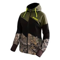 Zip-up hoodies, with some camo or Cabela's brand
