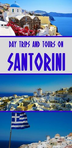 There's a number of Santorini excursions to choose from, including trips to nearby Greek islands, sailing experiences, volcano treks and more. Let's look at them all by taking a dive right in on what to do in Santorini for a day tour. Mykonos, Santorini Tours, Santorini Travel, Greek Islands Vacation, Greece Vacation, Vacation Trips, Day Trips, Honeymoon Vacations, Greece Trip
