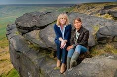 Last Tango in Halifax actresses Sarah Lancashire as Caroline and Nicola Walker as Gillian Last Tango In Halifax, Nicola Walker, Sarah Lancashire, Masterpiece Mystery, Gorgeous Grannies, Old Shows, Best Actor, Favorite Tv Shows, Actors & Actresses