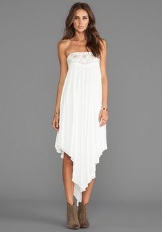 FREE PEOPLE Rhiannon Convertible Dress/Skirt in White - Dresses