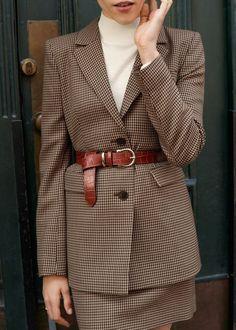 Stylish 49 Delightful Fall Outfits Ideas With Blazer That Looks Elegant Look Blazer, Plaid Blazer, Blazer Outfits, Blazer Fashion, Fall Outfits, Tomboy Outfits, Fall Blazer, Checked Blazer, Casual Blazer