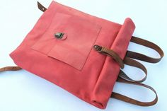 leather backpack by nastya klerovski