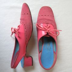 reputable site a42ef eafb1 Hot Pink Shoes 60s Shoes Mod Shoes Sz 5.5 Carnaby St. Bubble Gum Pink