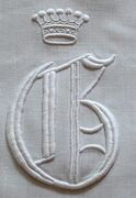 embroidered crown with monogram G
