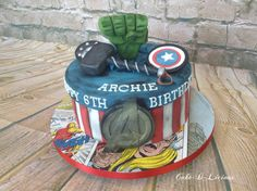 Avengers Marvel Heroes Cake - Cake by Cake-D-Licious
