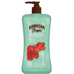 Hawaiian Tropic Cool Aloe After Sun Cooling Gel-16 oz ($6.39) ❤ liked on Polyvore featuring beauty products, bath & body products, sun care and beauty