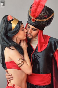 Pasion by Rei-Doll :: Cosplay of: Jasmine and Jafar Comic Con Cosplay, Epic Cosplay, Disney Cosplay, Amazing Cosplay, Disney Costumes, Cool Costumes, Aladdin Cosplay, Amazing Costumes, Couples Cosplay