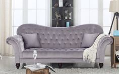 Diana Classic Victorian Velvet Sofa