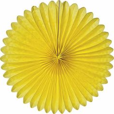 """Yellow 14 Inch Rice Paper Daisy - they have these in every color.for the entry table """"rainbow"""" Honeycomb Decorations, Paper Decorations, Party Kit, Party Shop, Party Ideas, Party Themes, Paper Daisy, Paper Flowers, Rice Paper"""