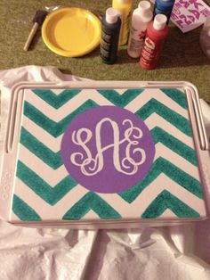 Painting Cooler Tutorial | Pinned for my niece, Heather, because this looks like something she would do :-)