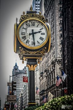 Trump Tower Clock, NYC. Visit Fort Bragg Leisure Travel Services for more information.