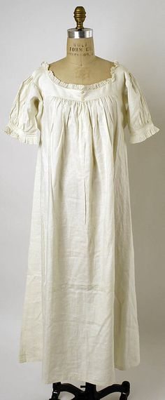 Nightgown  1830s  The Metropolitan Museum of Art