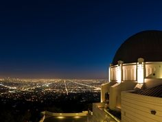 Griffith Observatory with Los Angeles Cityscape in Background, California