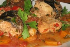 Retete Culinare - Plachie de macrou Romanian Food, Tasty, Yummy Food, Raw Vegan, Fish, Chicken, Delicious Food, Buffalo Chicken, Cubs