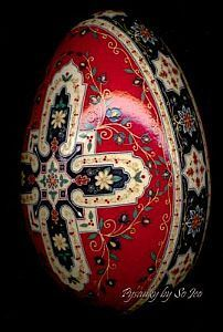 Kashan Bazaar II - by So Jeo LeBlond from Pysanky Eggs Art Gallery Ukrainian Easter Eggs, Ukrainian Art, Easter Art, Easter Crafts, Fabrege Eggs, Polish Easter, Egg Shell Art, Carved Eggs, Egg Designs