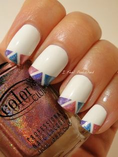 Click through to Bloom.com to see how to do these artistic nails by I Feel Polished.