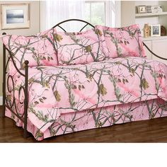 Delectably Yours Realtree® AP Pink Camo Daybed Bedding in 7 or 10 Pc Sets for your Ikea Daybed, Daybed Bedding, Comforter Sets, Daybed Cover Sets, Daybed Sets, Camo Bedding, Pink Bedding, Laura Ashley, Quilt Set