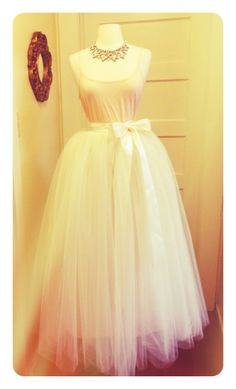 White Floor Length Adult Tulle Tutu Skirt by darkponydesigns, $235.00