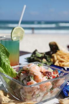 didnt have the ceviche, but had great food and view at El Bistro at Ziggy Beach in Tulum www.hotelcabanastulum.com